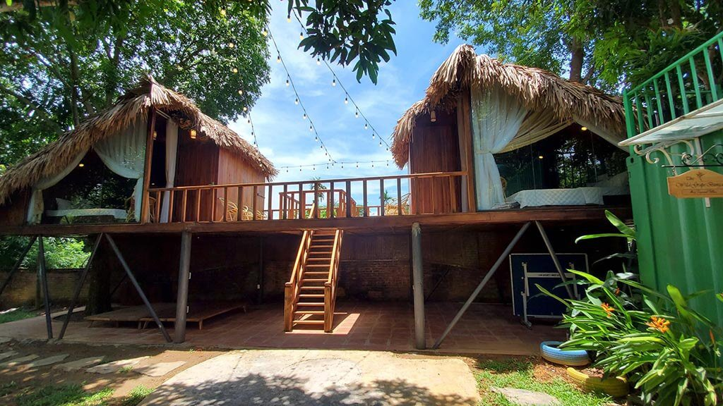 nha tree house may tropical villas homestay ba vi ha noi