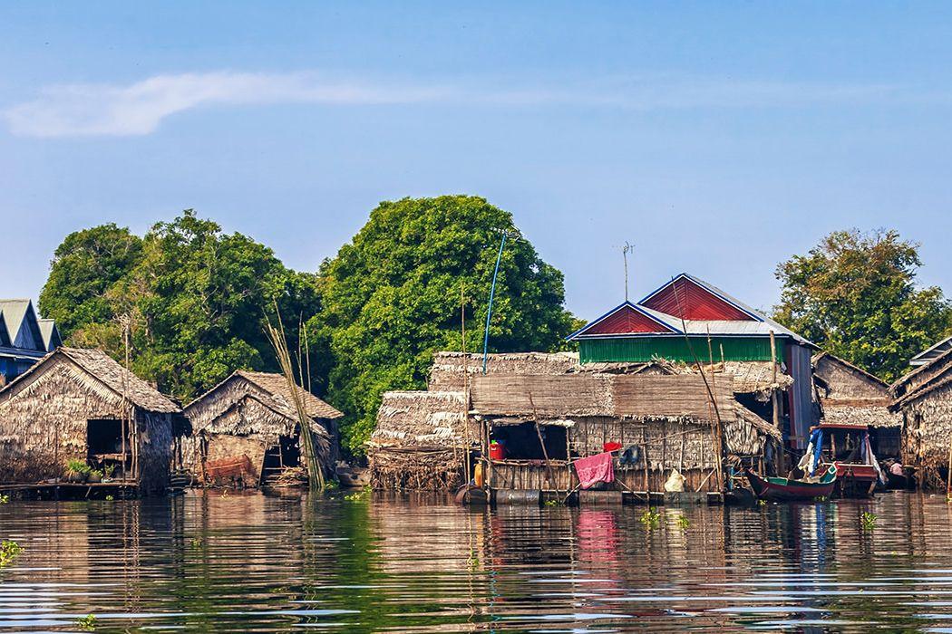 Ngôi làng nước nổi trên Biển Hồ Tonle Sap