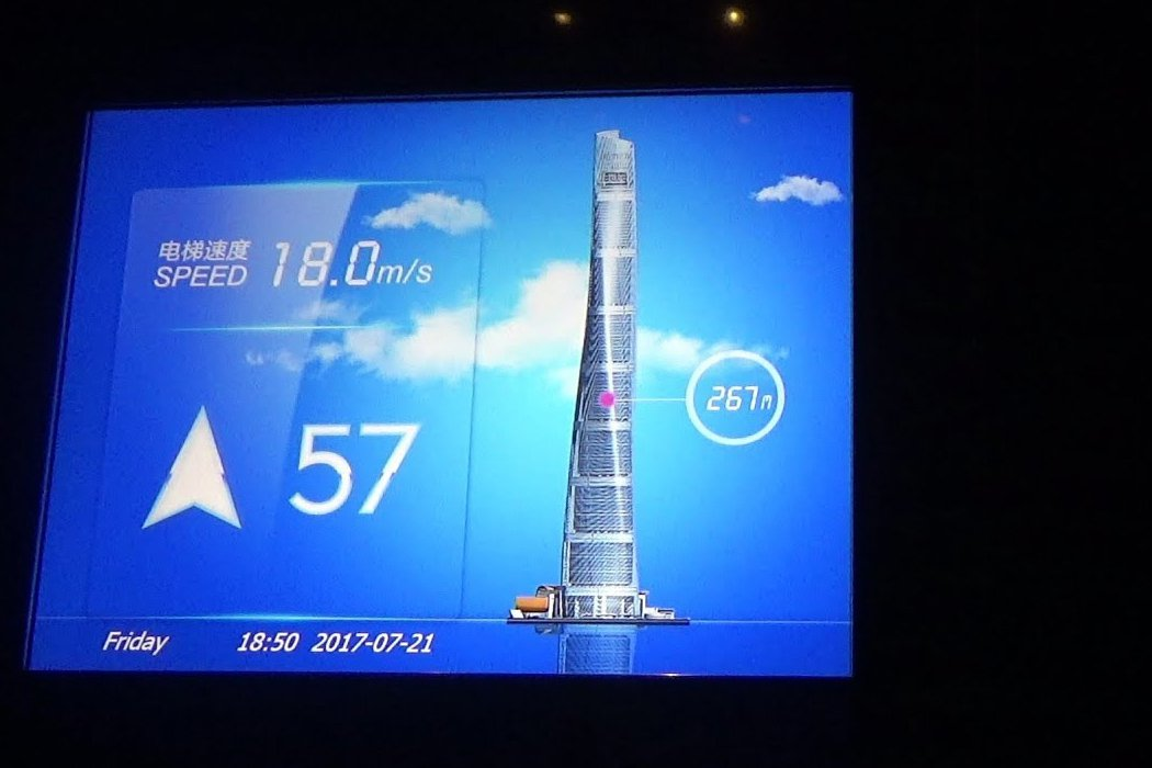Thang máy tháp Thượng Hải - Thang máy nhanh thứ 2 trên thế giới