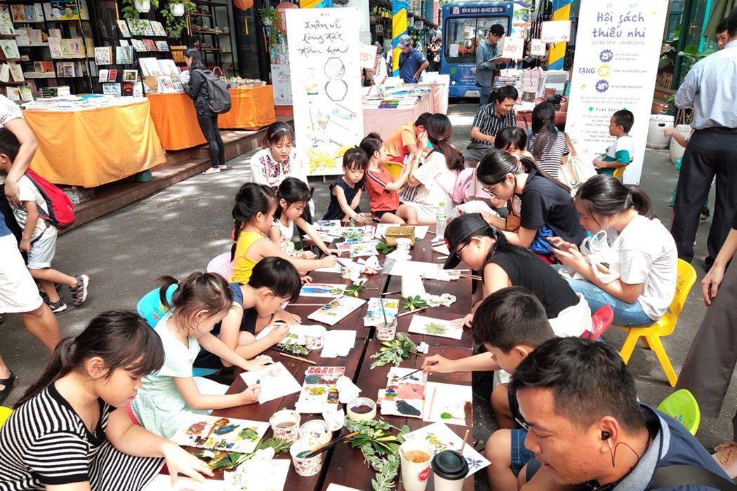Các hoạt động vui chơi tại đường sách Sài Gòn