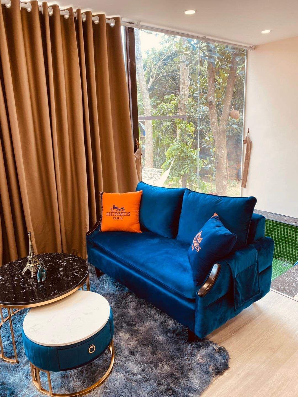 phong khach hm house villa by de vuz homestay hoa binh