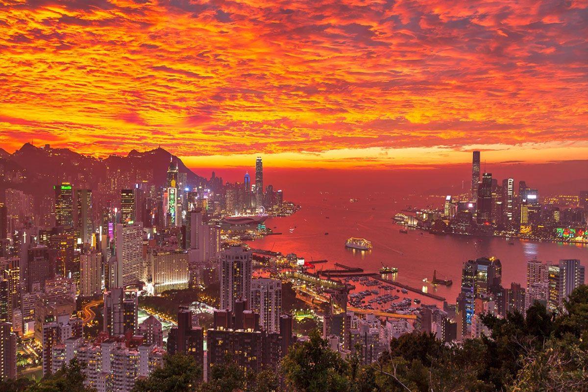 Hoàng hôn ở Hong Kong