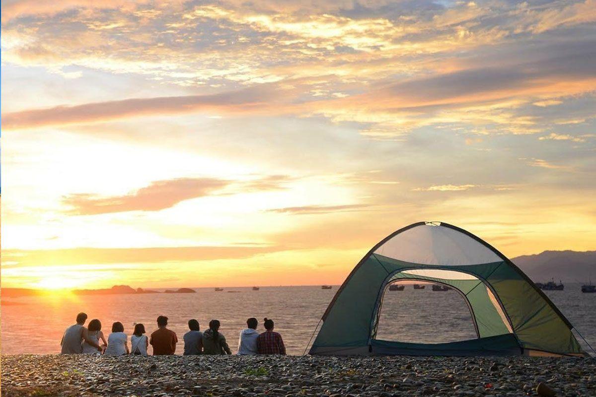 Cắm trại trên biển ở Mũi Dinh