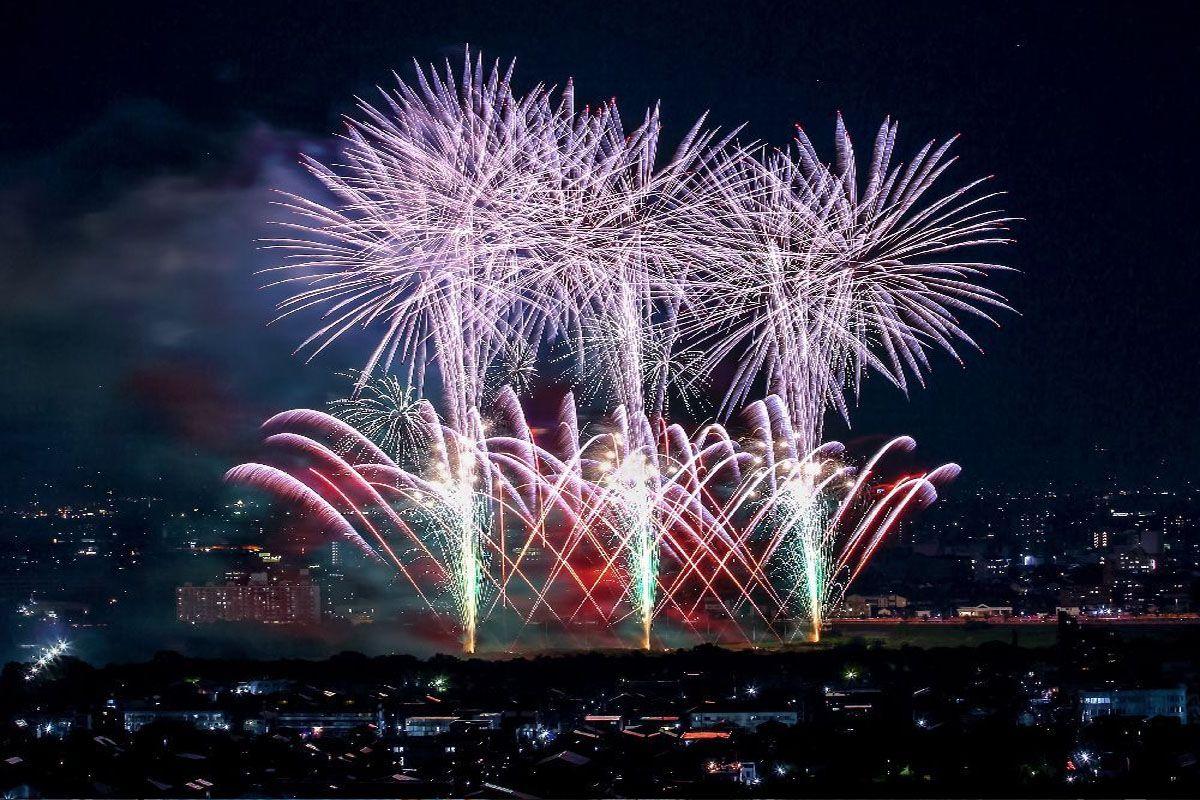 Pháo hoa tại Takasaki Fireworks Matsuri