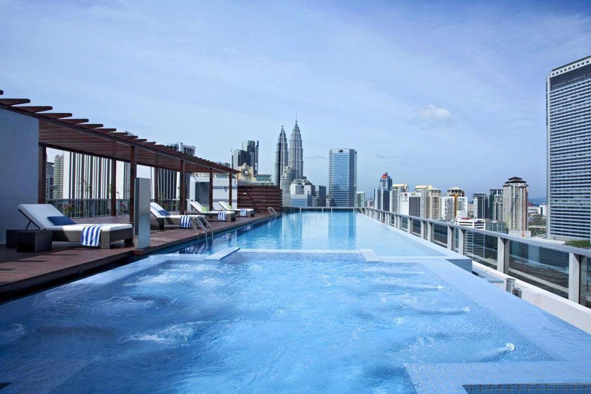 Bể bơi vô cực tại Somerset Ampang Kuala Lumpur