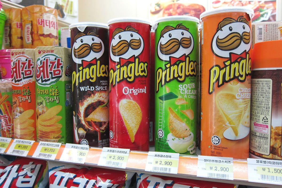 Pringles vị sữa chua và Cola