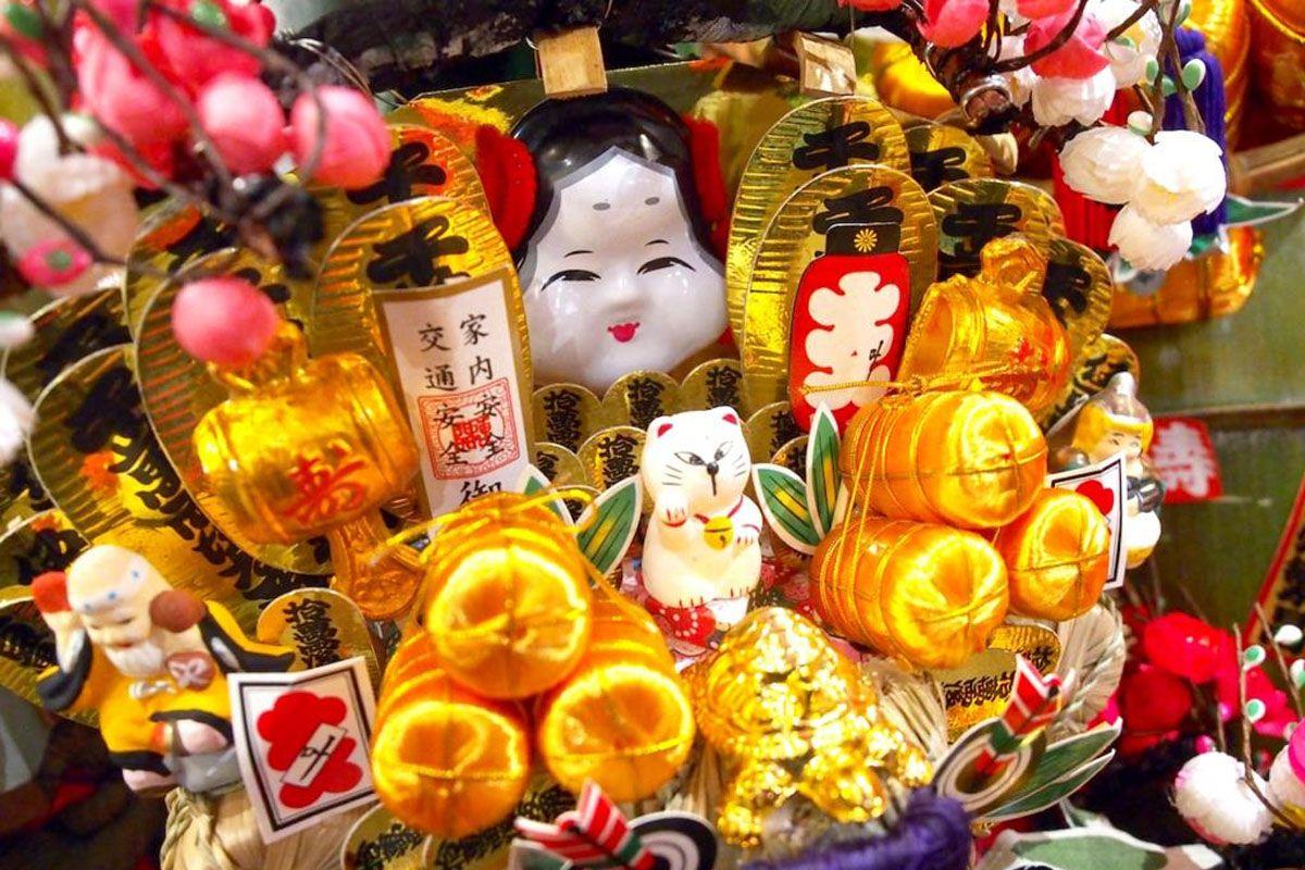 Lễ hội Tori-no-ichi (Rake Fair) - Đền Otori, vùng Kanto