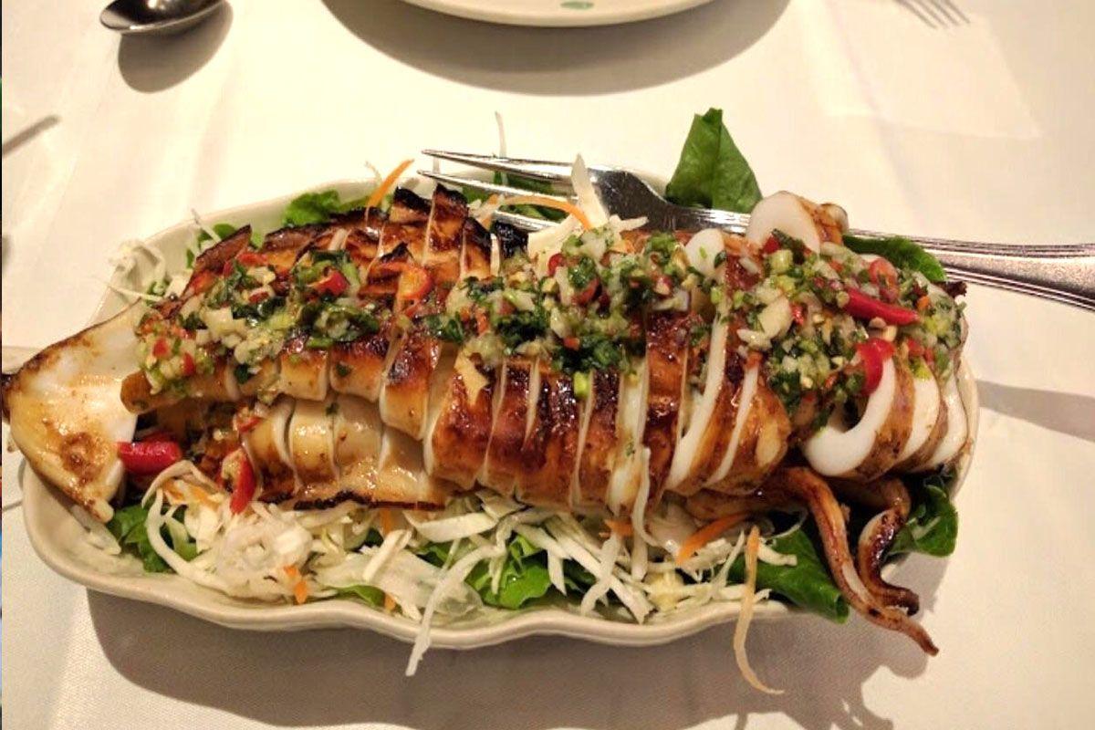 Hải sản nướng kiểu Thái