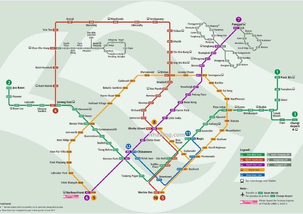 Hệ thống tàu điện ngầm ở Singapore cũng rất phát triển