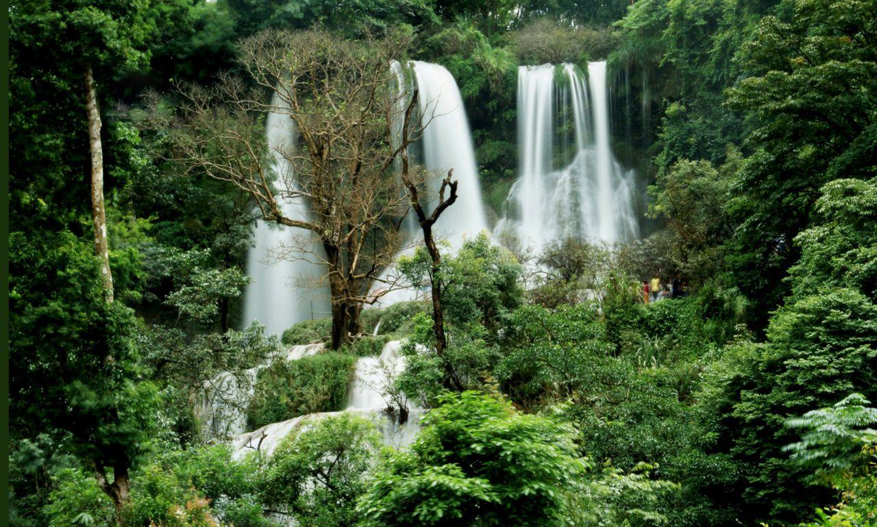 Thác Dải Yếm suối chảy tung bọt trắng xóa giữa núi rừng