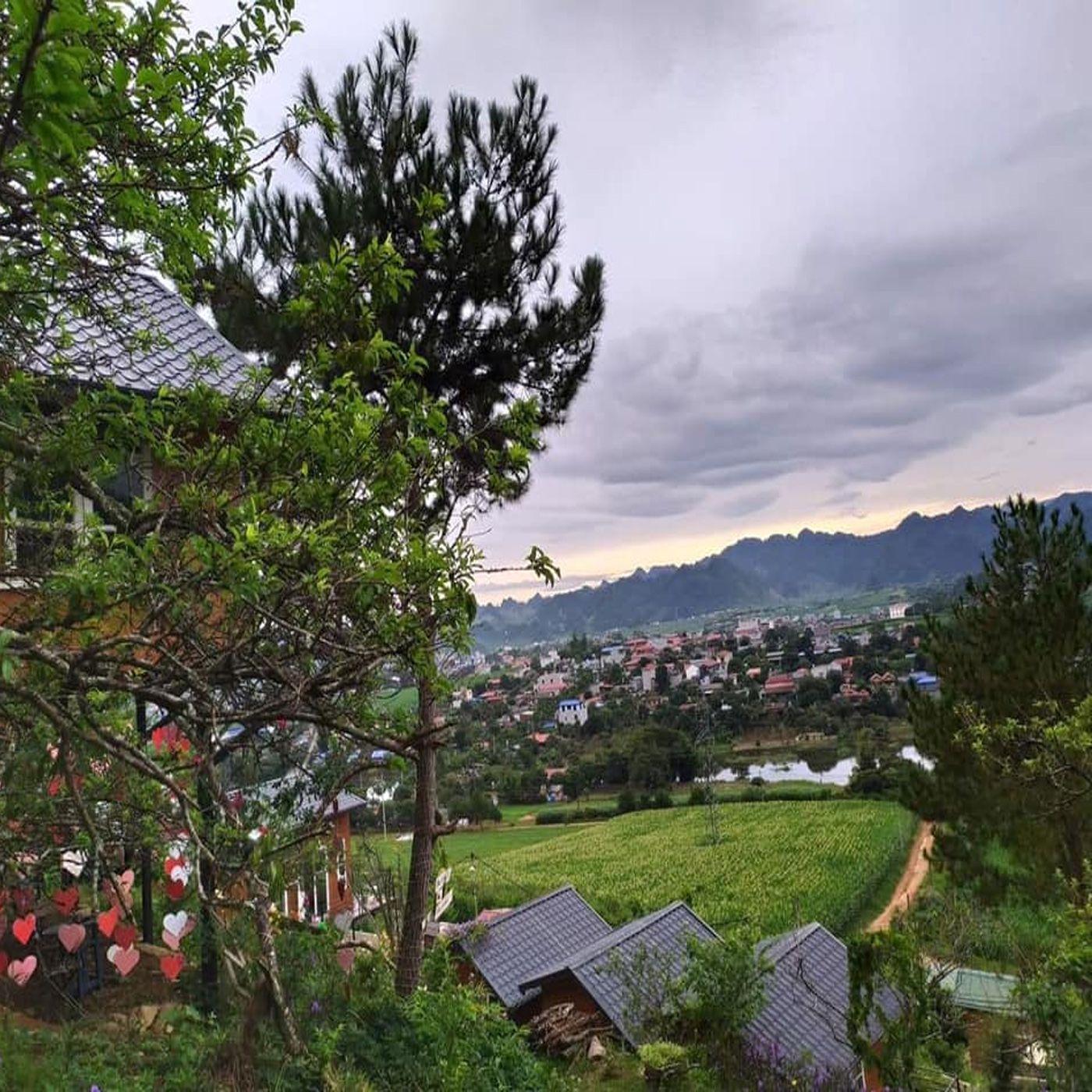 View hết tầm mắt từ Mộc Châu Top Hill