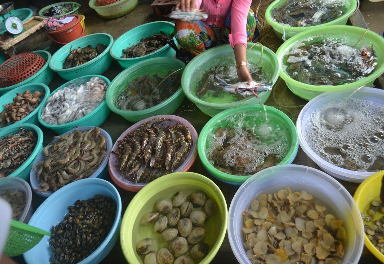 Chợ hải sản tươi Hải Phòng