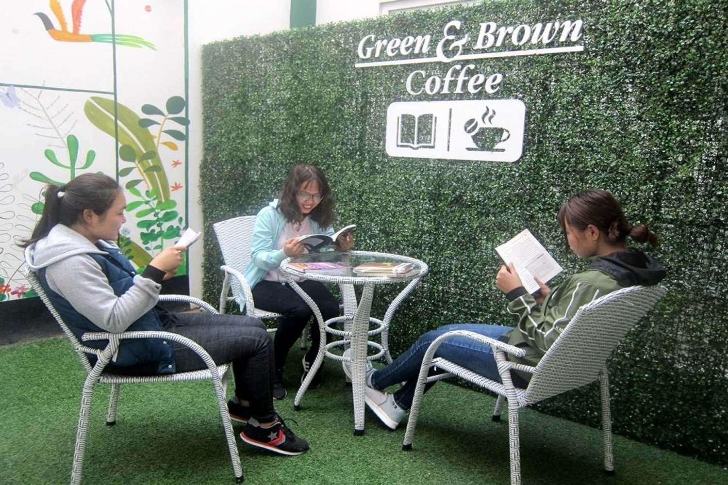 Green & Brown Bookstore