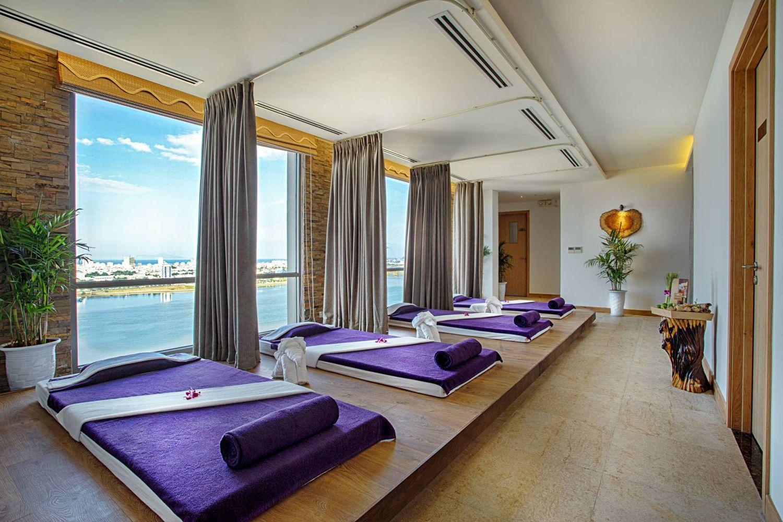 Phòng ngủ ở Vanda Hotel