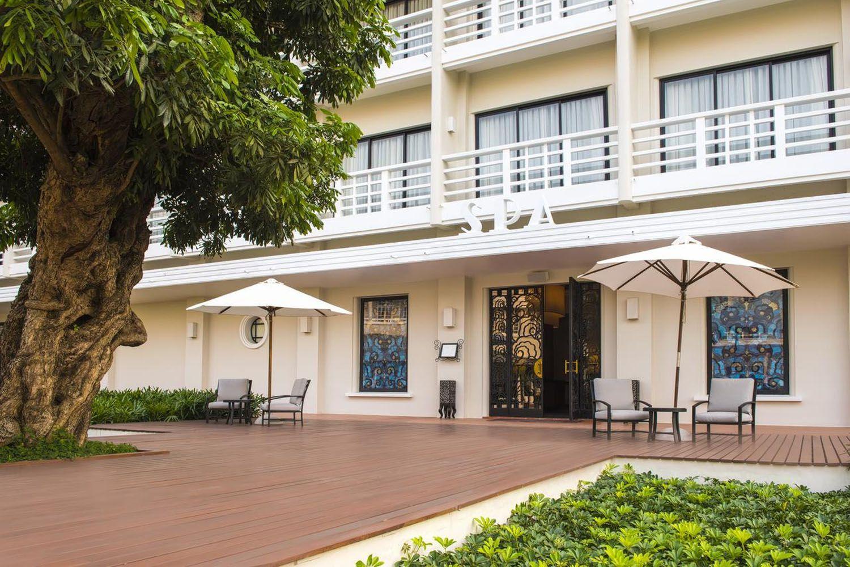 Không gian ngoại cảnh căn hộ tại Azerai La Residence