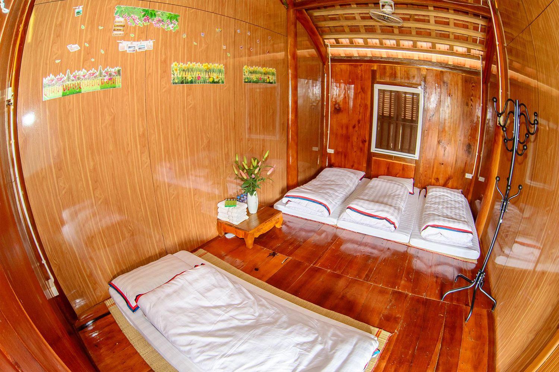 Nội thất toàn gỗ của Mộc Châu Arena Village