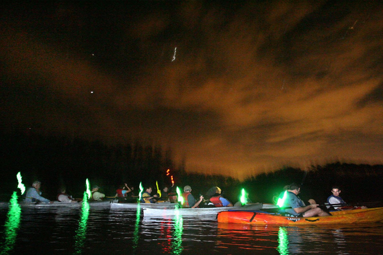 Tour chèo thuyền phát sáng vào ban đêm