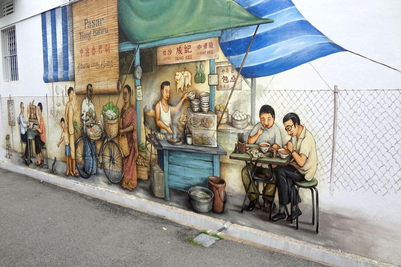 Các tranh nghệ thuật trên tường
