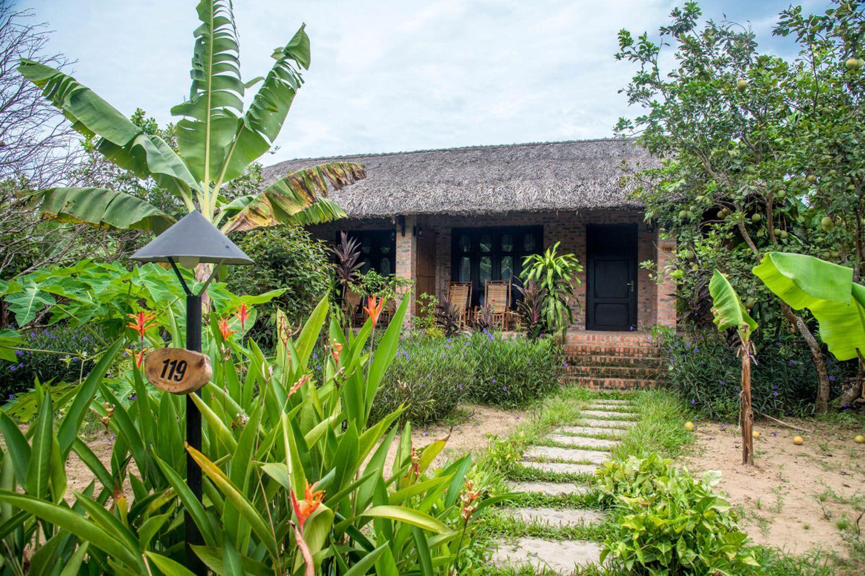 Không gian nghỉ dưỡng mà Hue Ecolodge tạo ra chính là sự thân thiện, giản dị