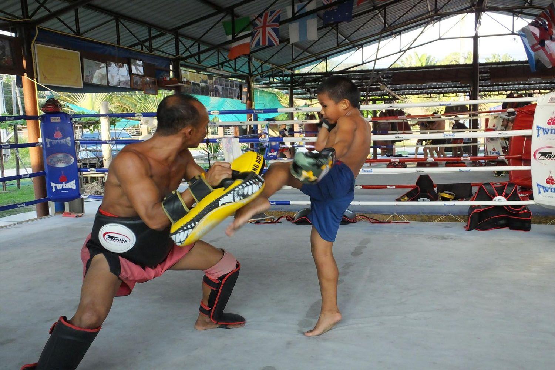 Tham gia trải nghiệm môn võ Muay Thái