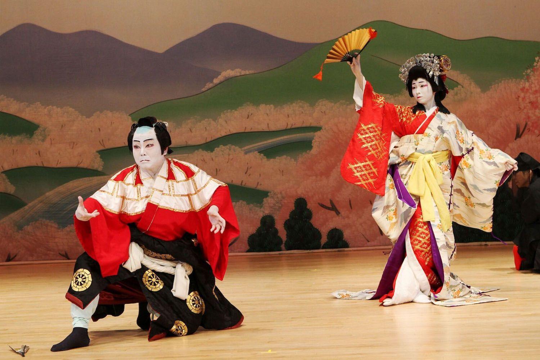 Xem một chương trình múa tại Nhà hát Kabukiza