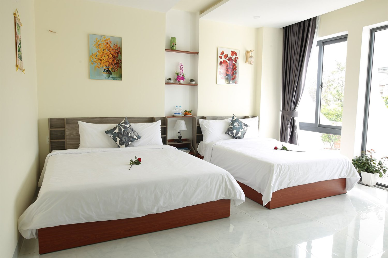 Phòng ngủ Lâm's Garden Boutique Homestay