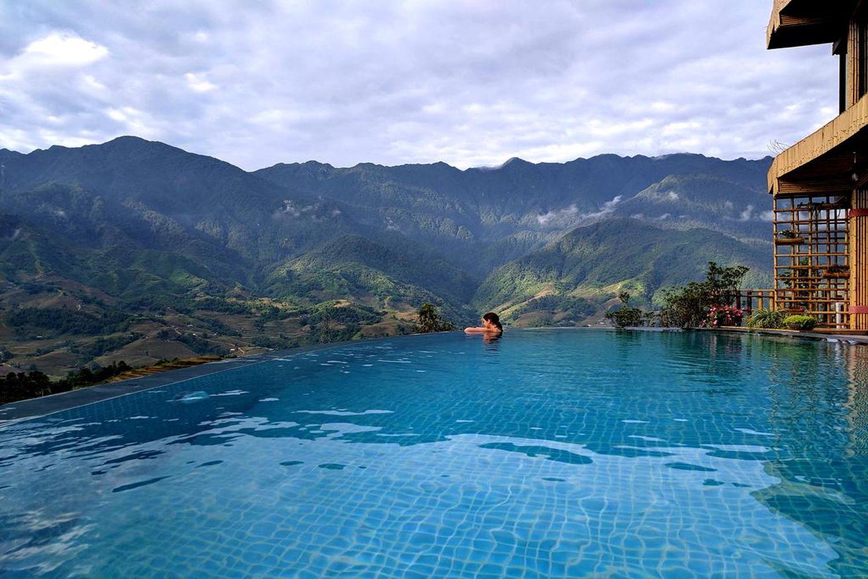 Bể bơi vô cực của Sapa Clay House