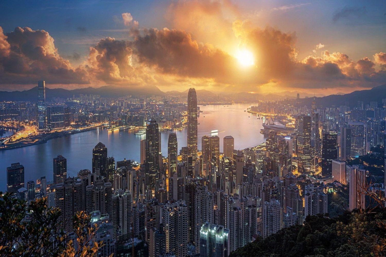 Bình minh Hong Kong
