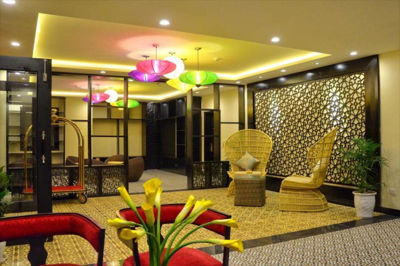 Phòng được thiết kế với phong cách hiện đại