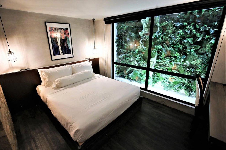 Phòng ngủ ở The Rucksack Caratel - Jonker Wing, Melaka