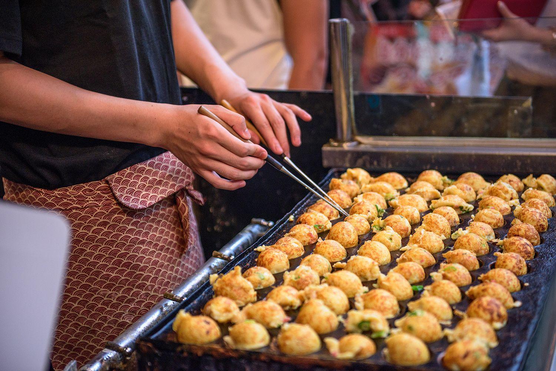 Takoyaki ở Osaka