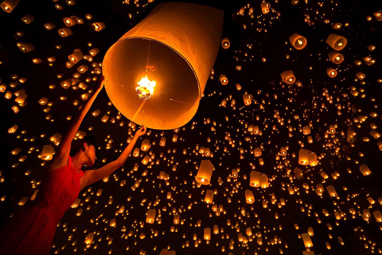 Đèn lồng bầu trời Thái Lan