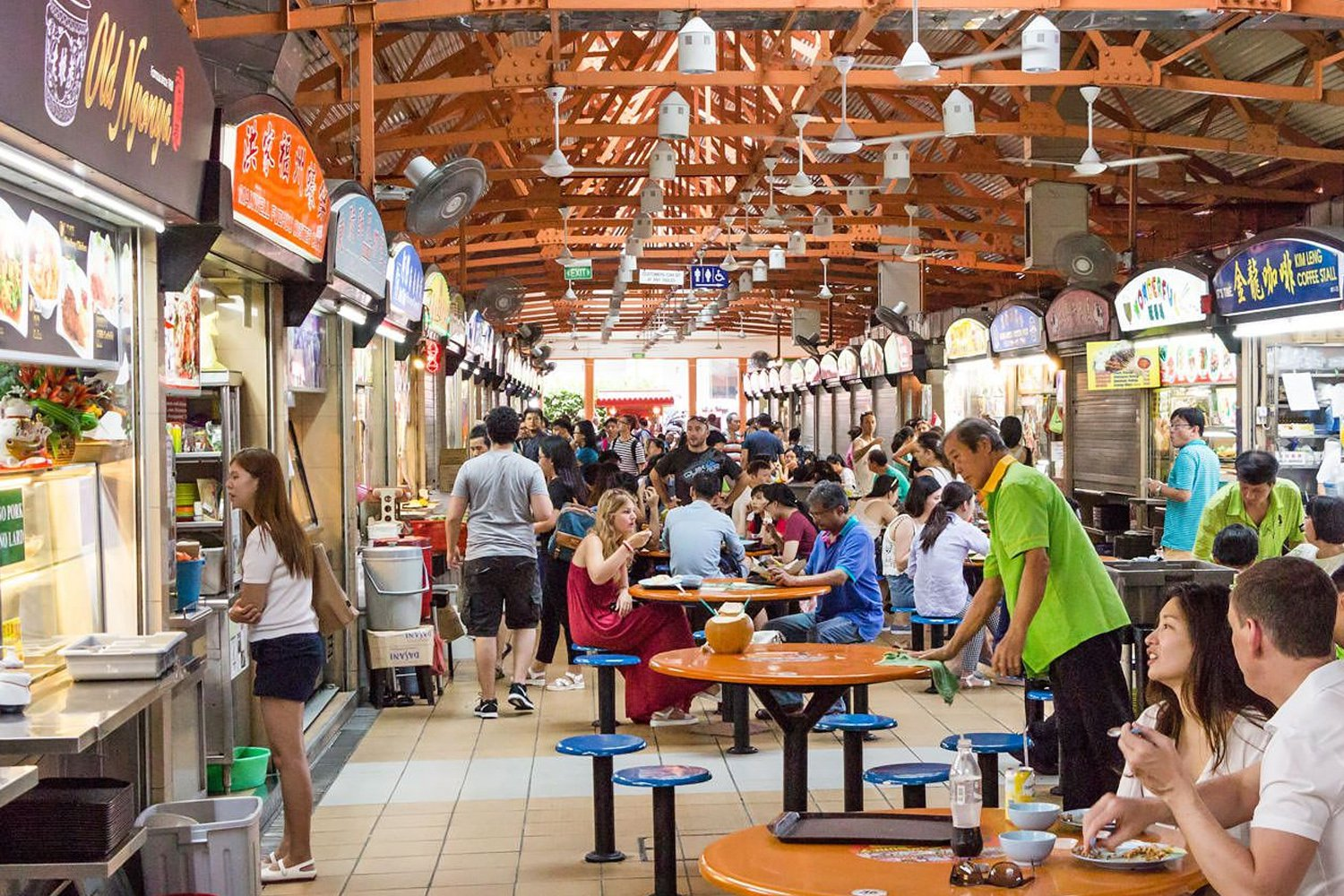 Chinatown's Maxwell Food Centre