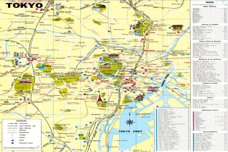 Bản đồ du lịch Nhật Bản