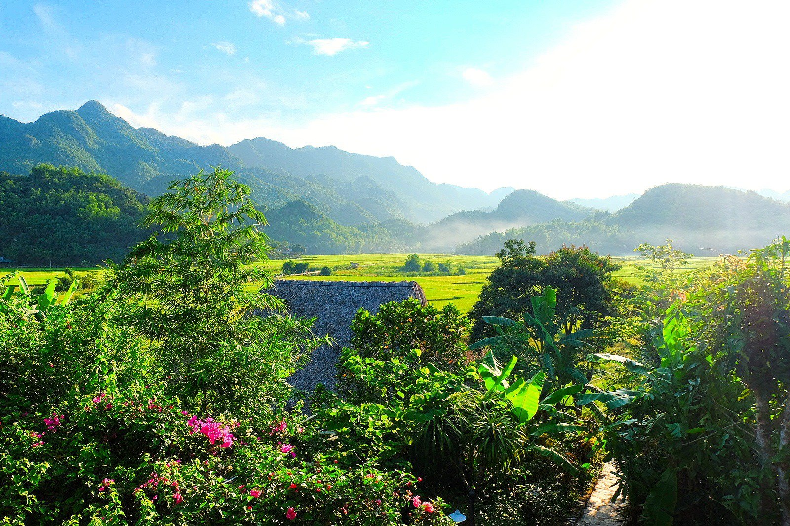 deluxe room paddy field view mai chau ecolodge