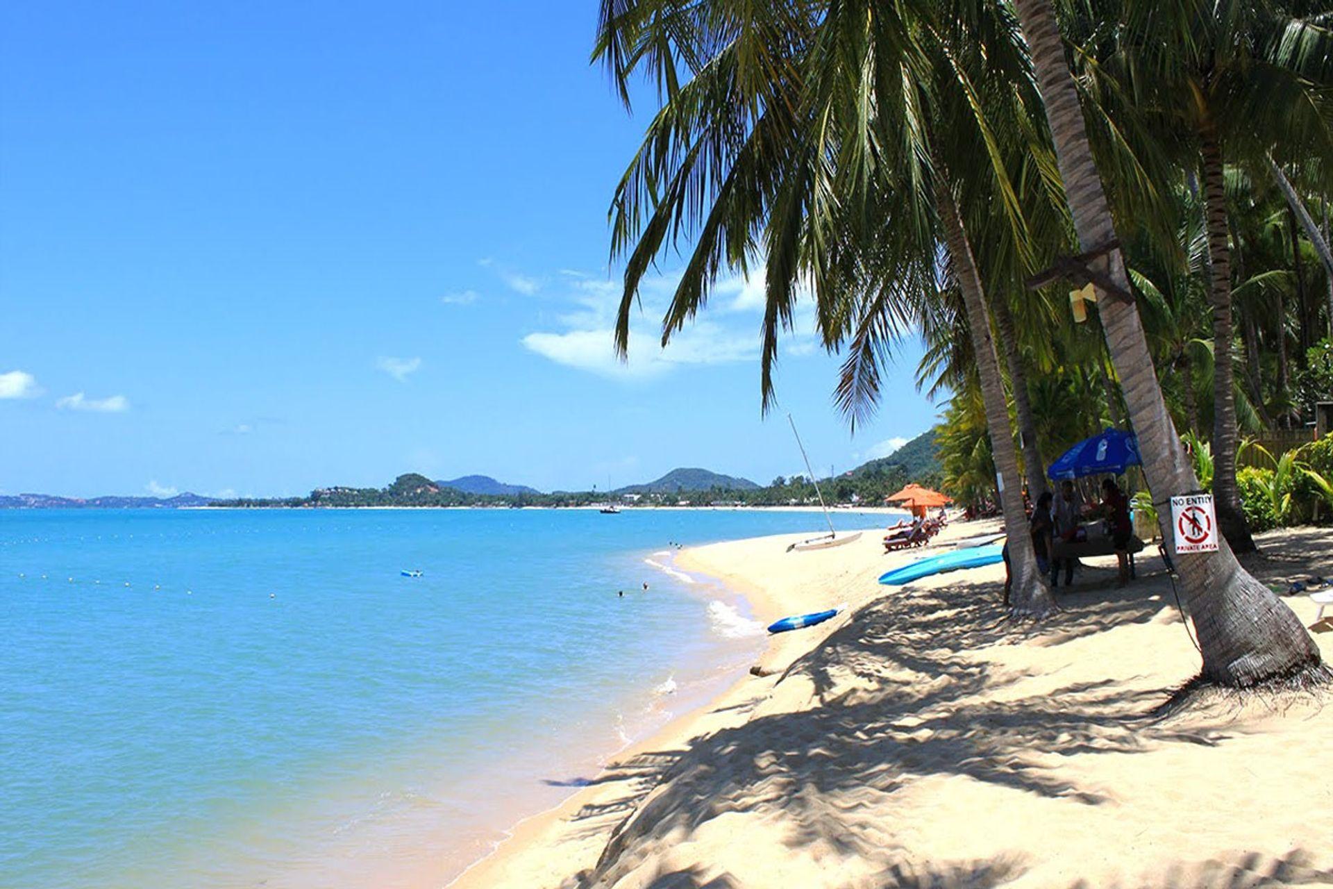 Bãi biển Maenam thân thiện