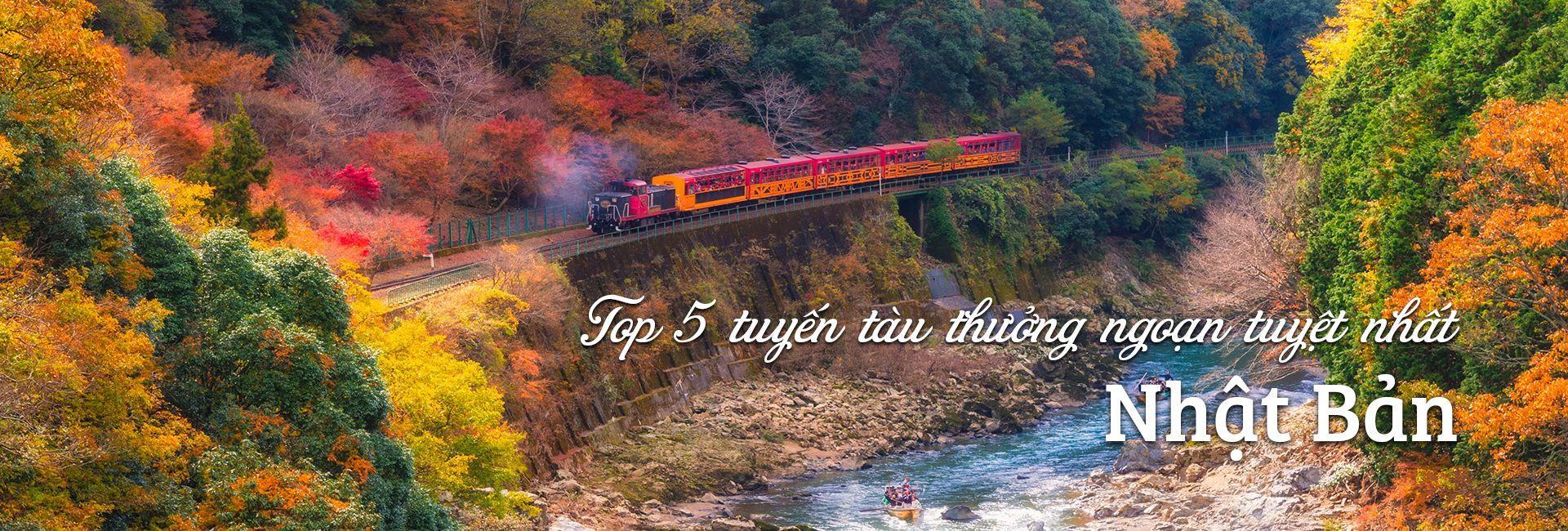 Top 5 tuyến tàu thưởng ngoạn tuyệt nhất Nhật Bản