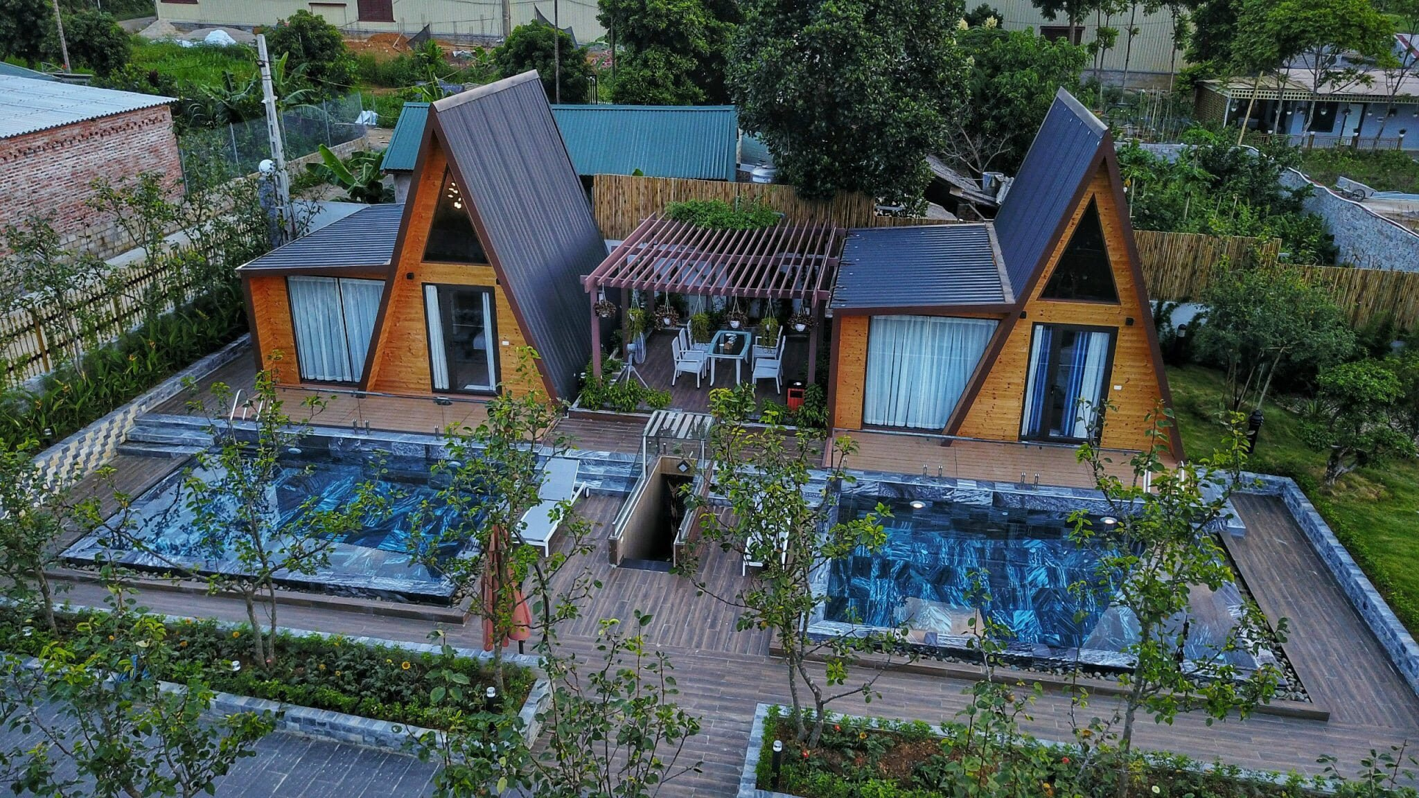 khuon vien bungalow garden ht garden homestay thach that ha noi