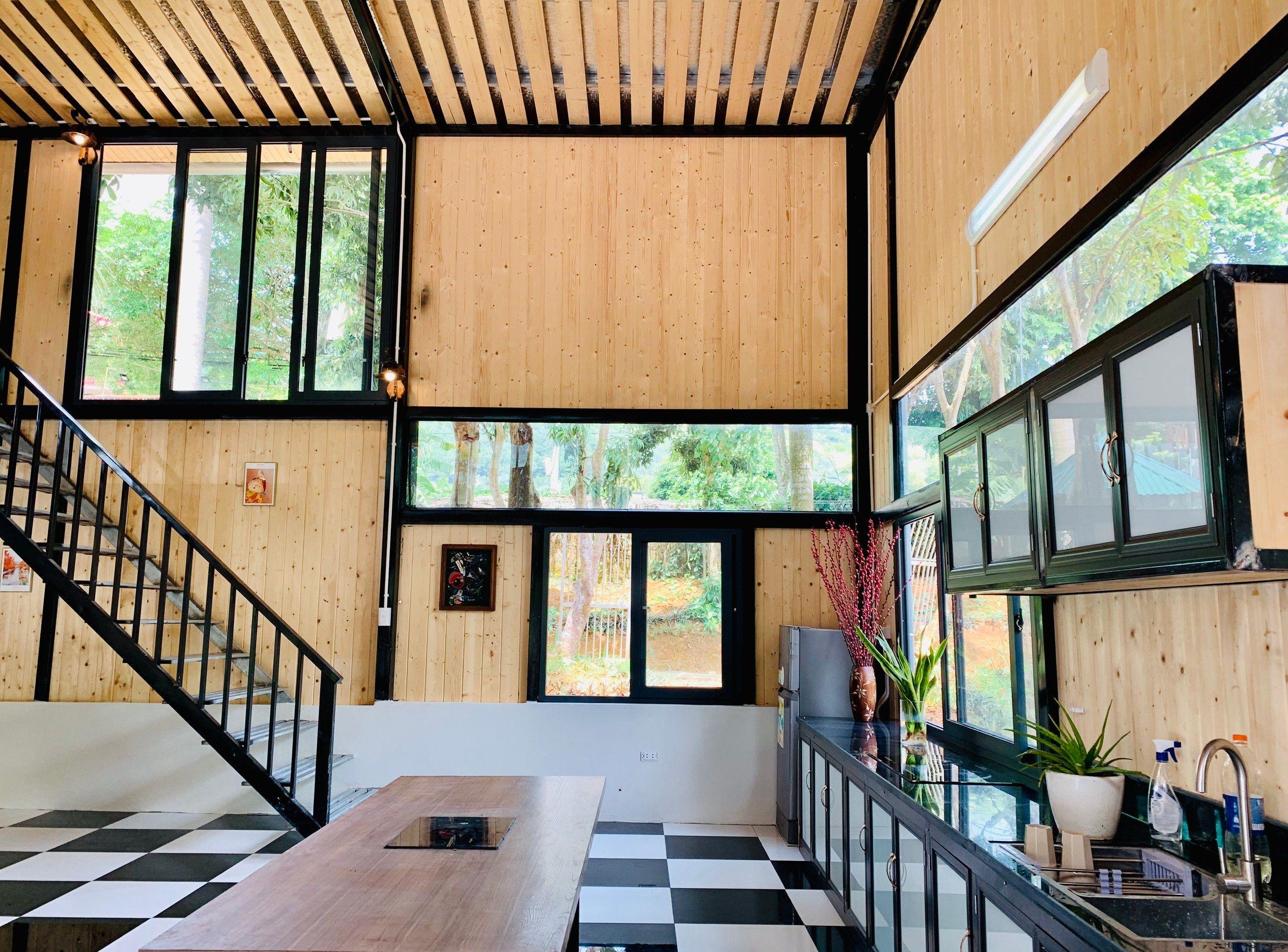 phong bep venus an garden retreat homestay thach that ha noi