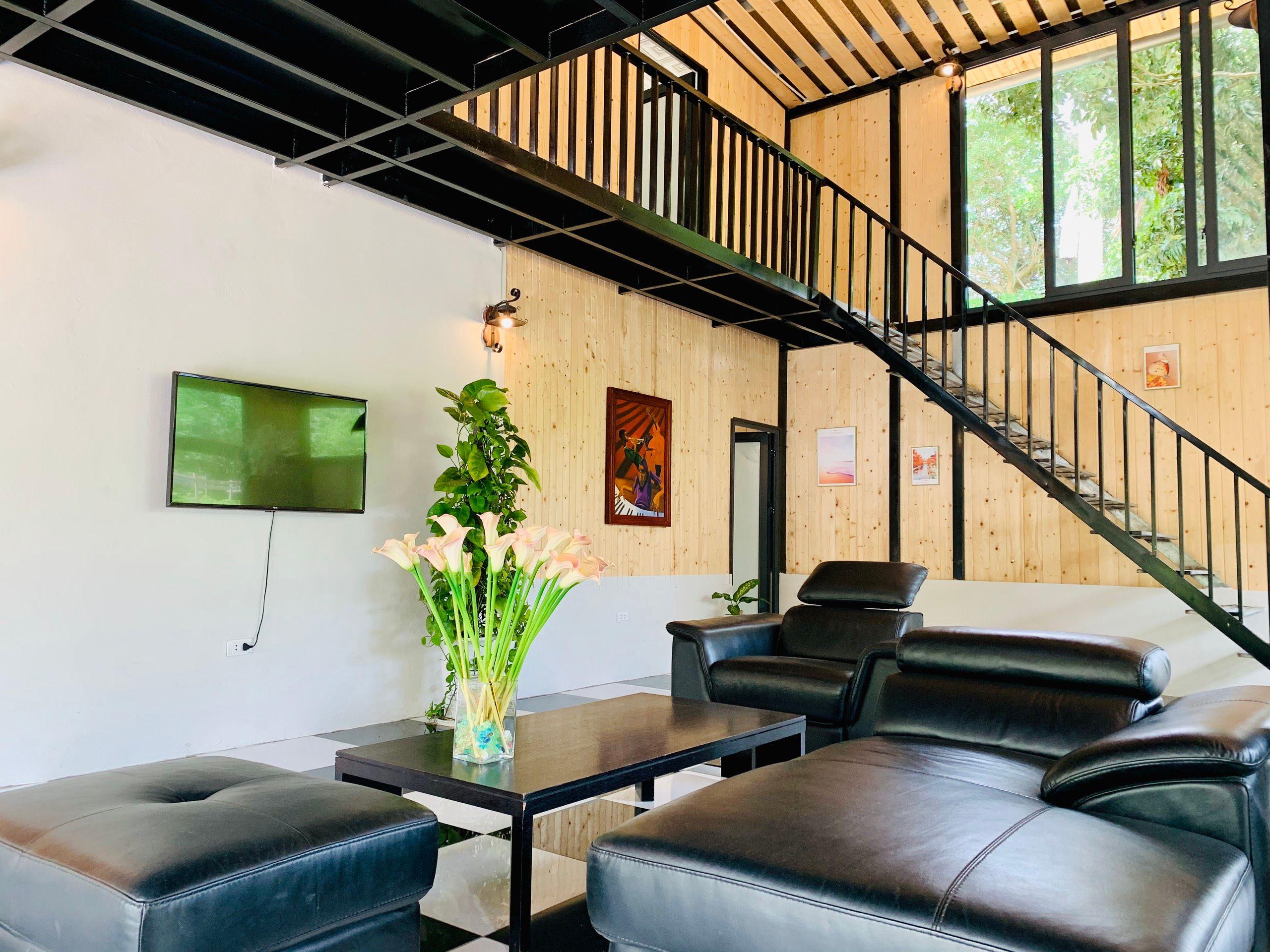 phong khach venus an garden retreat homestay thach that ha noi