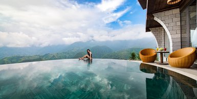khong gian sapa catcat hill resort and spa