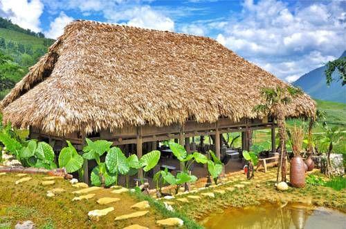 Homestay có hình dáng giống như ngôi nhà sản của dân bản