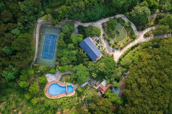 rung thong xanh green pines resort homestay soc son ha noi