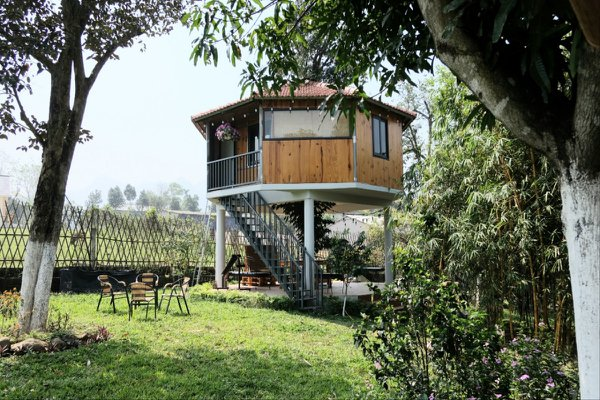 okia tree house homestay ba vi ha noi