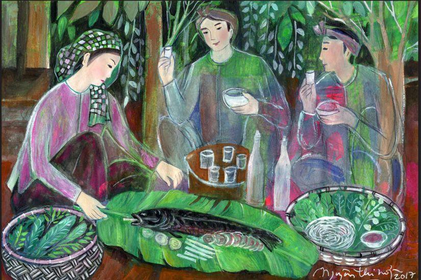 Cá lóc nướng là món ăn ngon dùng để đãi khách của người miền Tây. Ảnh: Sưu tầm