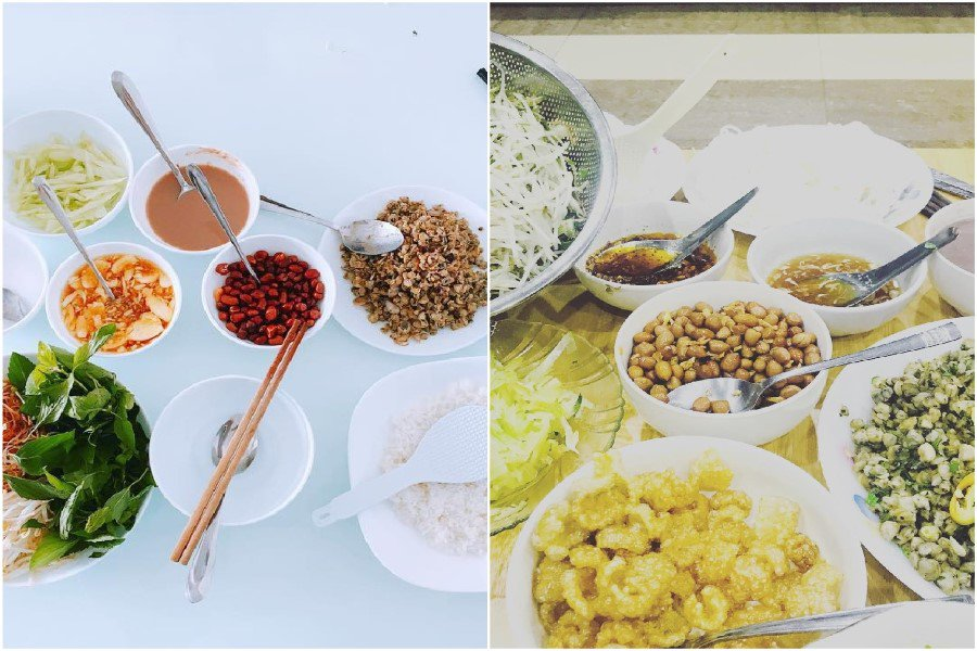 Nguyên liệu tạo ra món cơm hến